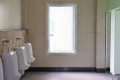 Contemporary interior of public toilet Royalty Free Stock Image