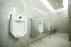 Contemporary interior of public toilet Stock Photography