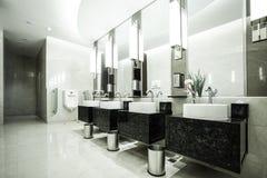 Contemporary interior of public toilet Stock Image
