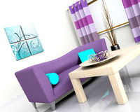 Contemporary interior and sofa Royalty Free Stock Photography