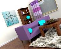 Contemporary interior and sofa Royalty Free Stock Photography