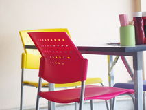 Contemporary interior style decoration and furniture in noodle shop Royalty Free Stock Photography