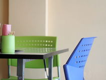 Contemporary interior style decoration and furniture in noodle shop Royalty Free Stock Photos