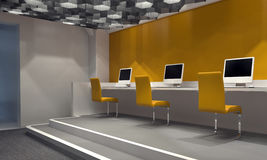 Contemporary internet cafe Stock Photography