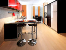 Contemporary kitchen 2 Royalty Free Stock Image