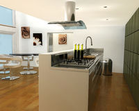 Contemporary kitchen Royalty Free Stock Photography