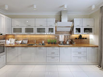 Contemporary Kitchen Design Royalty Free Stock Photography