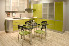 Contemporary kitchen interior Royalty Free Stock Image