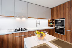 Contemporary kitchen interior Stock Photography