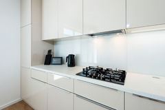 Contemporary kitchen interior Royalty Free Stock Photography