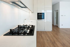 Contemporary kitchen interior Stock Photos