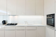 Contemporary kitchen interior stock photography