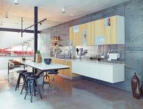 Contemporary kitchen Royalty Free Stock Photos