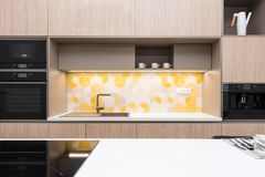Contemporary kitchen interior royalty free stock images