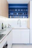 Contemporary kitchen interior stock photos