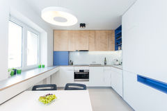 Contemporary kitchen interior Stock Photo