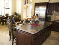 Contemporary kitchen in new modern home Royalty Free Stock Photography