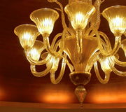 Contemporary light chandelier Royalty Free Stock Photo
