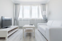 Contemporary and light living room Stock Photo