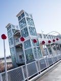 Contemporary light rail station Royalty Free Stock Photos