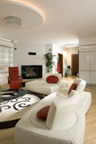 Contemporary living room Royalty Free Stock Photo