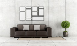 Contemporary living room Stock Photo