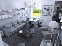 Contemporary living room in daylight Royalty Free Stock Image