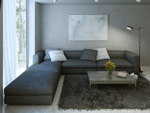 Contemporary living room design Stock Photography