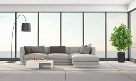 Contemporary living room of a holiday villa Royalty Free Stock Photos