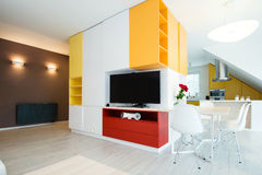 Contemporary living-room interior Royalty Free Stock Photos