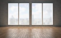 Contemporary living room loft interior. 3d rendering Royalty Free Stock Photos