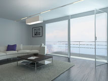 Contemporary living room loft interior Royalty Free Stock Images