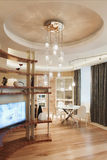 Contemporary living room. In luxury home Royalty Free Stock Photo