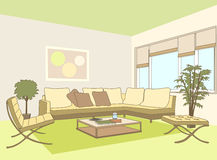 Contemporary Living Room Stock Images