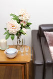 Contemporary living room sofa close up royalty free stock images