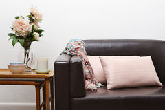 Contemporary living room sofa Royalty Free Stock Image