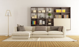Contemporary living room Royalty Free Stock Images