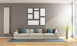 Contemporary living room with sofa Stock Photography