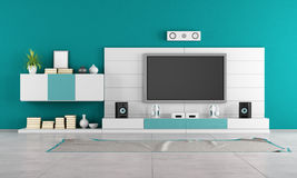 Contemporary living room with TV Royalty Free Stock Image