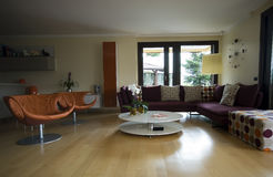 Contemporary Livingroom Stock Photo