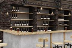 Contemporary loft bar interior Royalty Free Stock Image