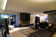Contemporary loft hall. Contemporary loft in Zagreb Croatia stock photos