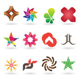 Contemporary Logo and Icon Collection Stock Photography