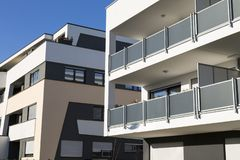 New luxury apartment buildings, penthouse royalty free stock image