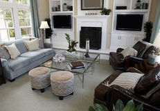 Contemporary luxury home living stock images