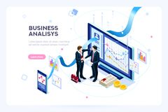 Contemporary Marketing investment virtual finance. Investment and virtual finance. Communication and contemporary marketing. Future and office devices working on stock illustration