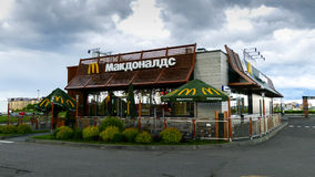 Contemporary McDonald`s exterior. Stock Images
