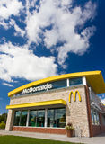 Contemporary McDonald's Restaurant Exterior Stock Photography