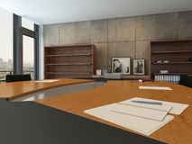 Contemporary meeting room with conference table Stock Photo