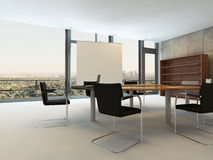 Contemporary meeting room with conference table Stock Photos